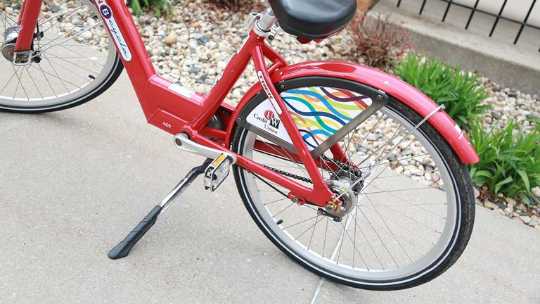 UW Credit Union bicycle in the community